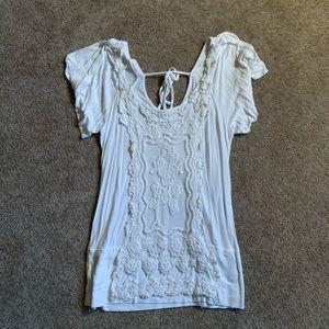 Lace short sleeve top (D164)